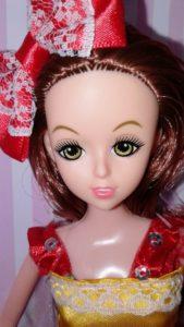 Rose Girl. Кукла в желто-крас
