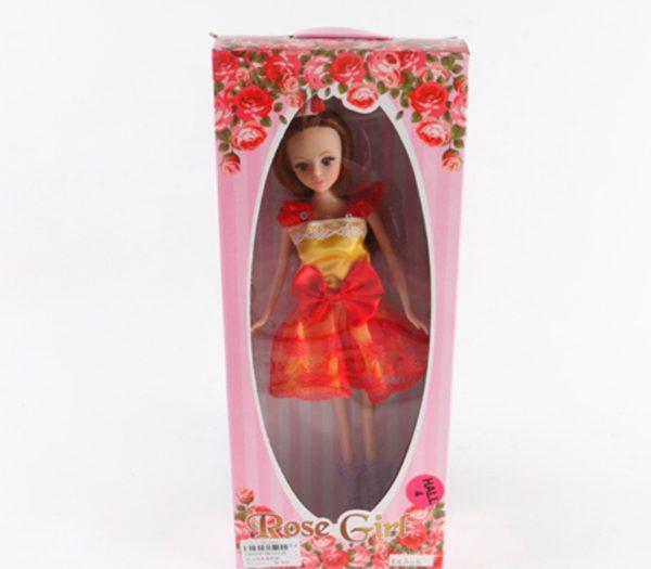 красивая кукла в красно-желтом платье