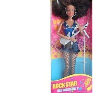 Кукла рокер с гитарой.