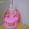 Маленький пупс за розовым столиком, в пакете 10,5×8,5×8 см 4335