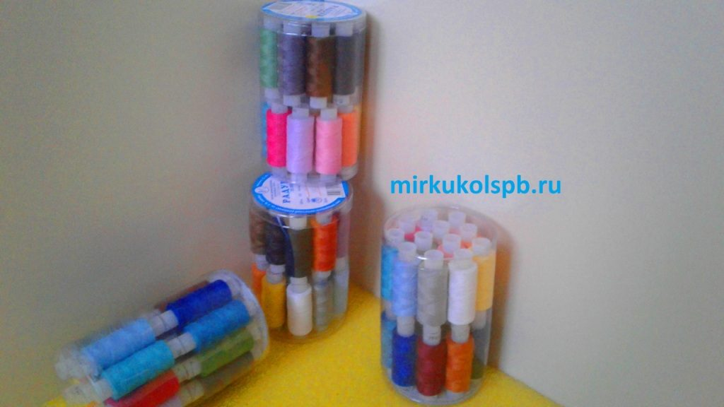 Набор ниток для шитья Радуга 35 ЛЛ – 24 шт
