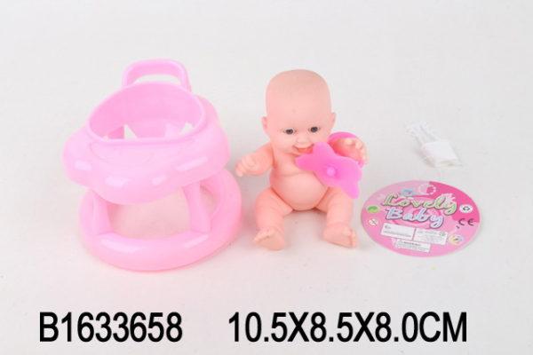 Маленький пупс за розовым столиком, в пакете 10,5×8,5×8 см