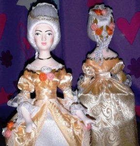 Фарфор - кукла сувенирная. Дама в бальном платье