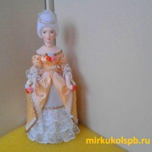 Кукла ручной работы - Дама в бальном платье. Фарфор. Коллекционная кукла ручной работы.