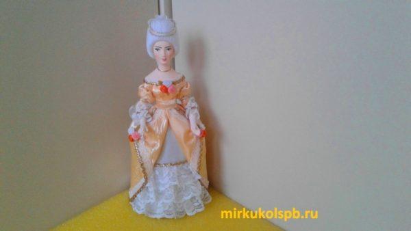 Дама в бальном платье. Фарфор. Коллекционная кукла ручной работы.