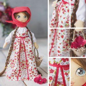 Набор для шитья Мягкая кукла Василина с косами Арт Узор