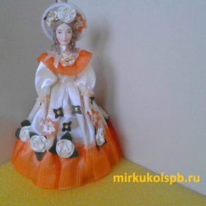 Скарлетт. Кукла сувенирная фарфоровая. Высота 26 см