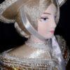 Светская дама в прогулочном костюме. Конец 18-го – начало 19 века. Фарфоровая кукла сувенирная. 3949