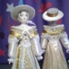 Светская дама в прогулочном костюме. Конец 18-го – начало 19 века. Фарфоровая кукла сувенирная. 3947